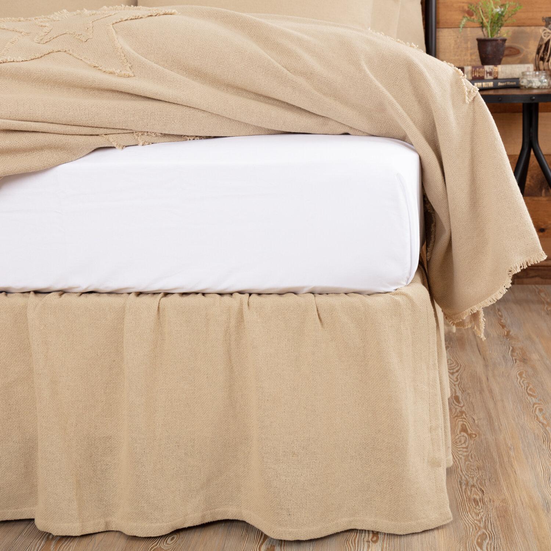 Red Barrel Studio Harkaran Burlap Ruffled 16 Bed Skirt Reviews Wayfair