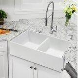 33'' x 18'' Double Basin Farmhouse Kitchen Sink