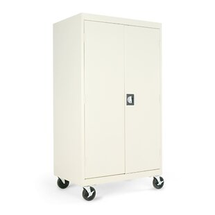Enclosed Mobile AV Cabinet in Putty
