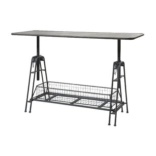 17 Stories Brette Adjustable Metal Console Table