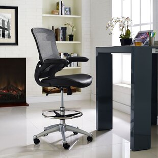 Wrought Studio Hiers High-Back Mesh Drafting Chair