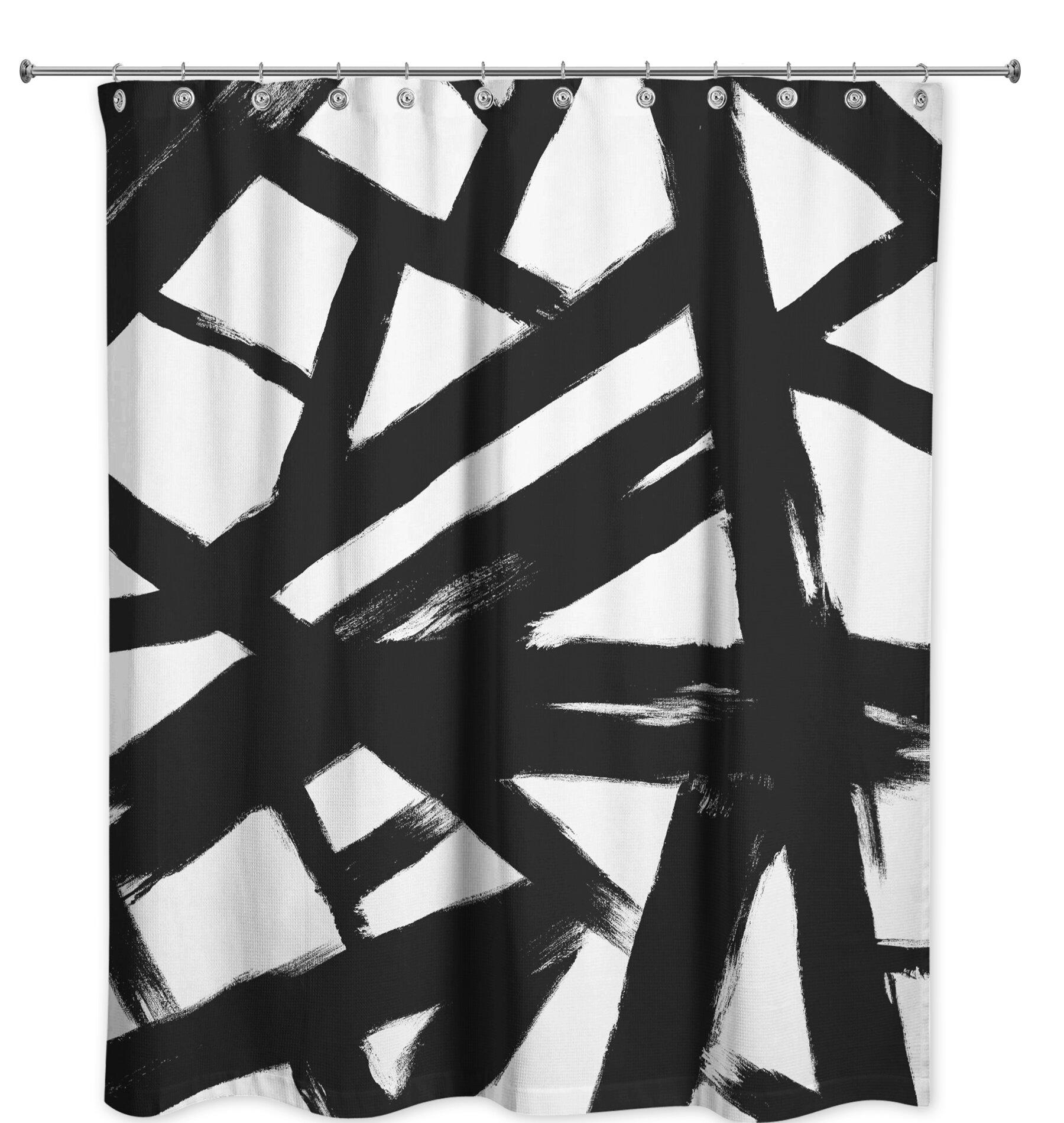 Latitude Run Viviane Abstract Single Shower Curtain Wayfair
