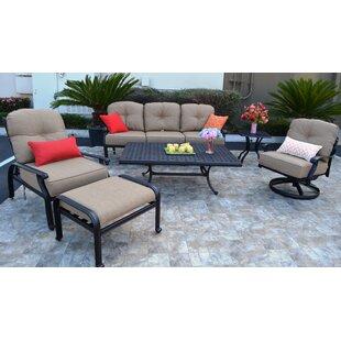 Three Posts Sidney 6 Piece Sunbrella Sofa Set with Cushions