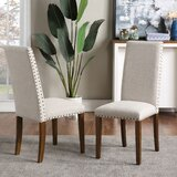 Upholstered Parsons Chair in Blue (Set of 2) by Schnappi