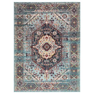 Valletta Medallion Blue/Red Indoor/Outdoor Area Rug