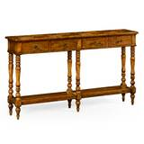Parquet Double Console Table by Jonathan Charles Fine Furniture