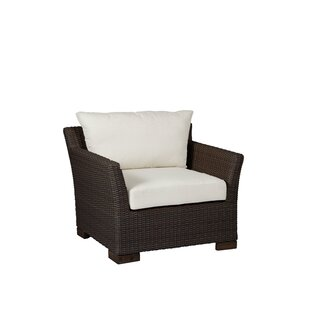 Club Woven Patio Chair with Cushion by Summer Classics
