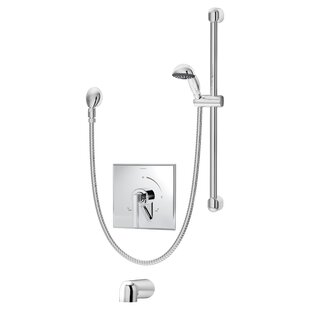Symmons Duro Pressure Balance Tub and Hand Shower System with Lever Handle