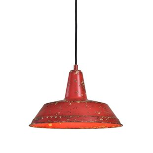 Williston Forge Castle Distressed 1 -Light LED Dome Pendant
