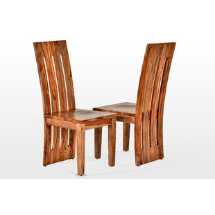 Loon Peak Avelar Solid Wood Dining Chair (Set of 2)