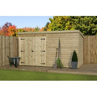 12 Ft. W X 6 Ft. D Shiplap Pent Wooden Shed By WFX Utility