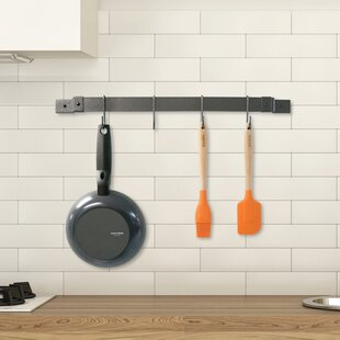 Enameled Wall Mounted Pot Rack