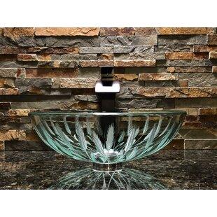 Reviews Wheat Glass Circular Vessel Bathroom Sink ByElegant Glass Engraving Studio