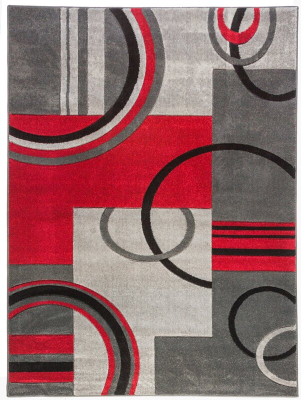 default_name - Zipcode Design Dawson Galaxy Waves Grey & Red Area Rug & Reviews