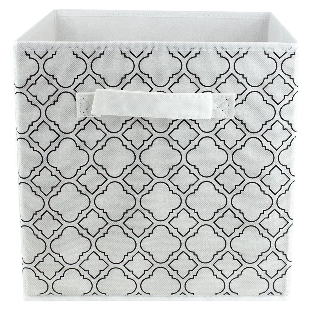 Rebrilliant Quatrefoil Collapsible Non Woven Storage Fabric Cube Wayfair