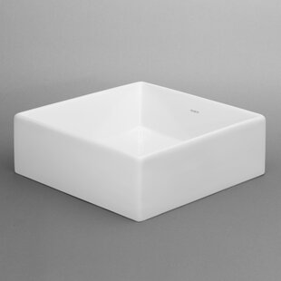 Compare prices Tapered Ceramic Square Vessel Bathroom Sink By Ronbow