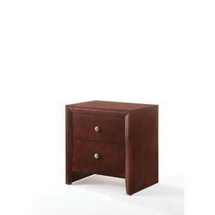 Find the perfect Leif Wooden 2 Drawer Nightstand by Alcott Hill