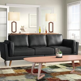 Looking for Marrufo Leather Sofa By Mercury Row