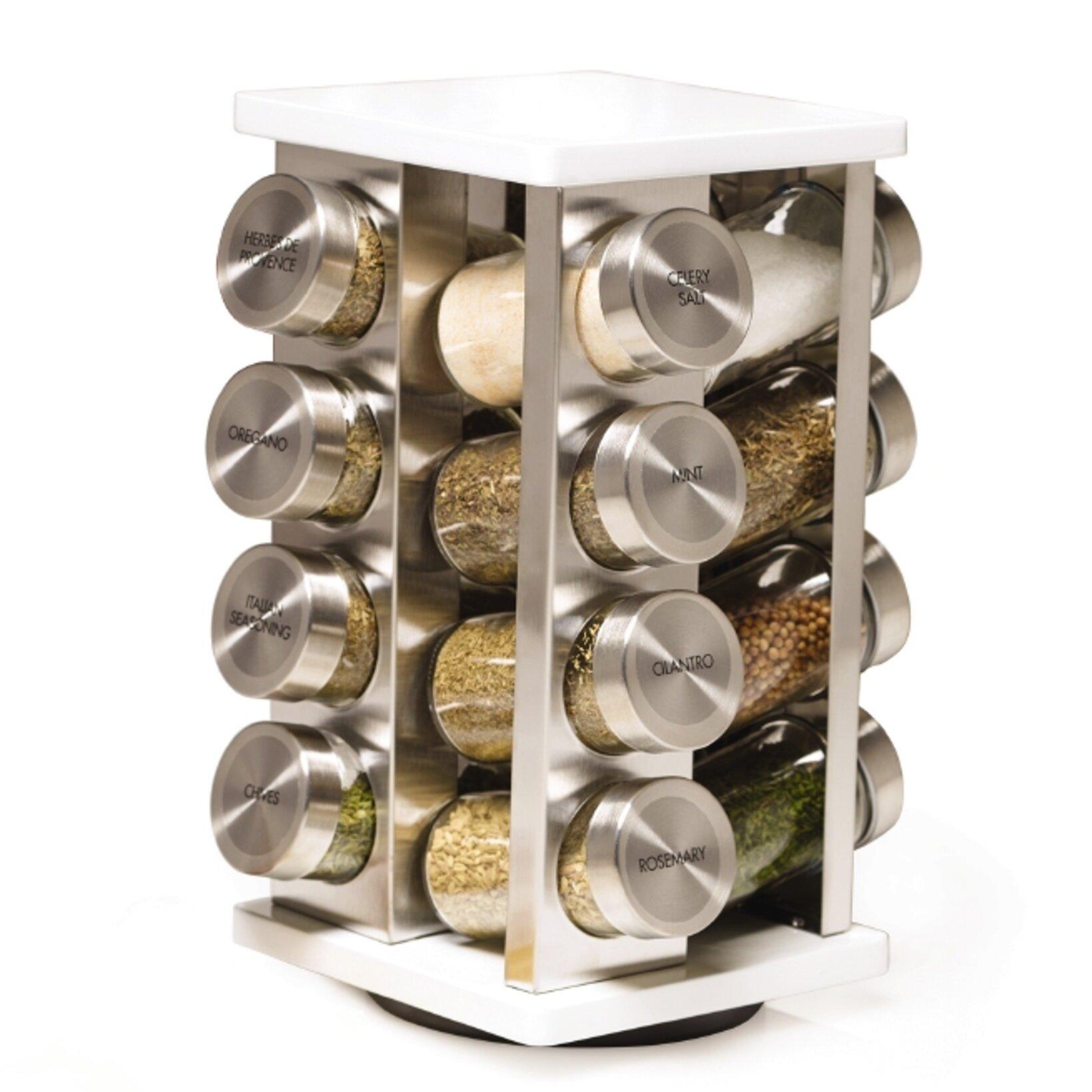 Kamenstein brighton 16 jar spice jar rack set wayfair