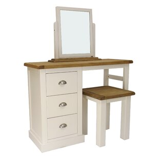3 Piece Dressing Table Set With Mirror Set By August Grove