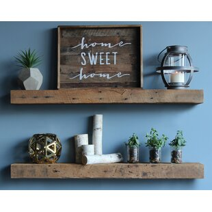 Bulah Reclaimed Barn Wood Floating Wall Shelf (Set of 2) by Williston Forge