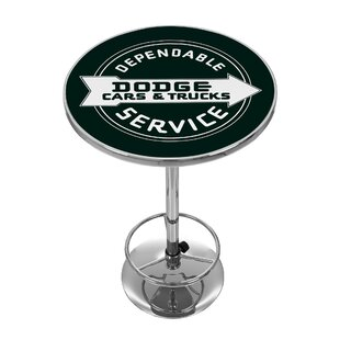 Dodge Service Pub Table by Trademark Global