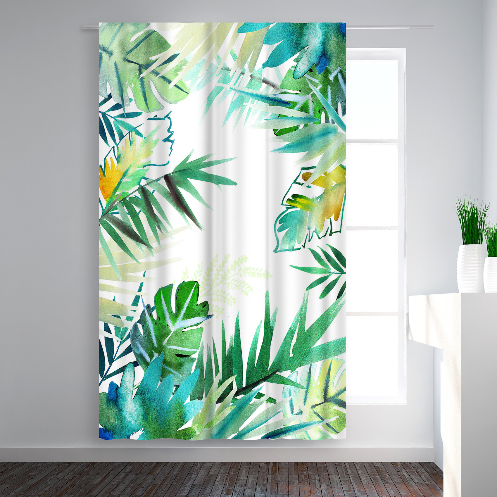 East Urban Home Victoria Nelson Tropical Foliage Floral Blackout Rod Pocket Single Curtain Panel Wayfair