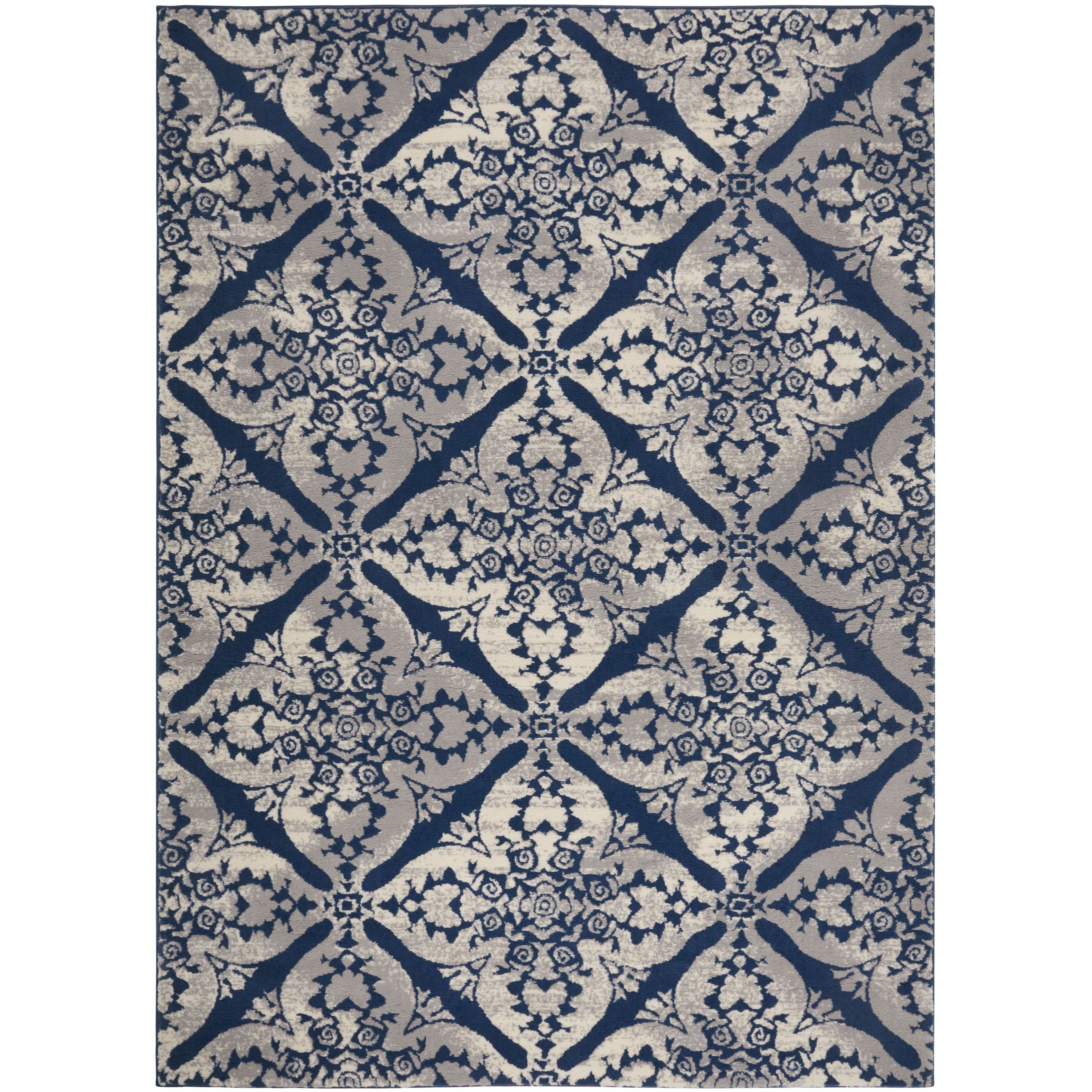 Andover Mills Mulfo Power Loom Blue Gray Rug Reviews Wayfair
