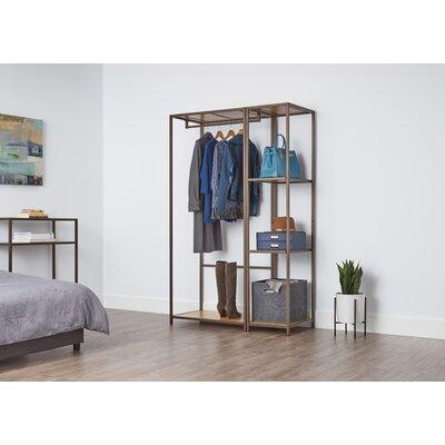 "Pedersen 45"" W 2-Piece Modular Bamboo Closet System Set Rebrilliant"
