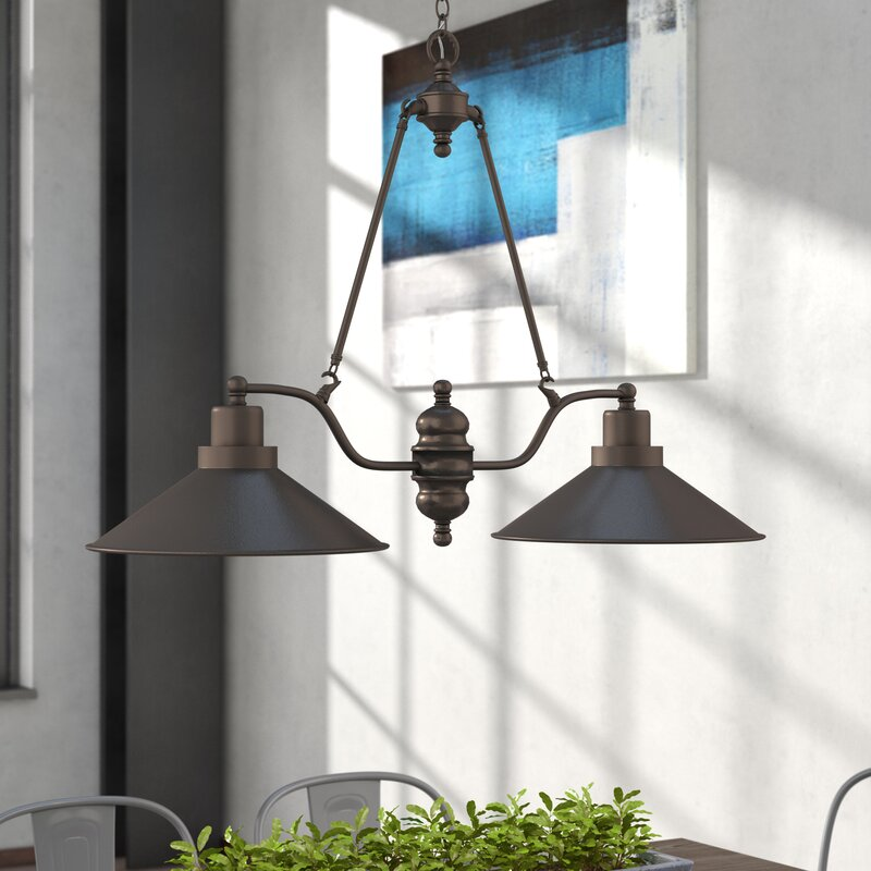Trent Austin Design Schaff 2 Light Kitchen Island Pendant