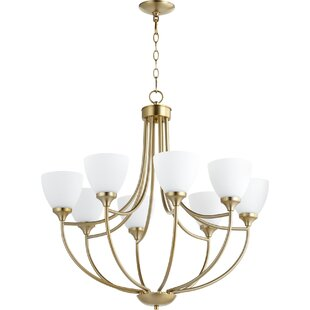 Quorum Enclave 8-Light Shaded Chandelier