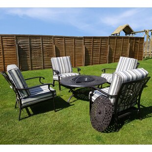 Marceline 4 Seater Conversation Set By Sol 72 Outdoor