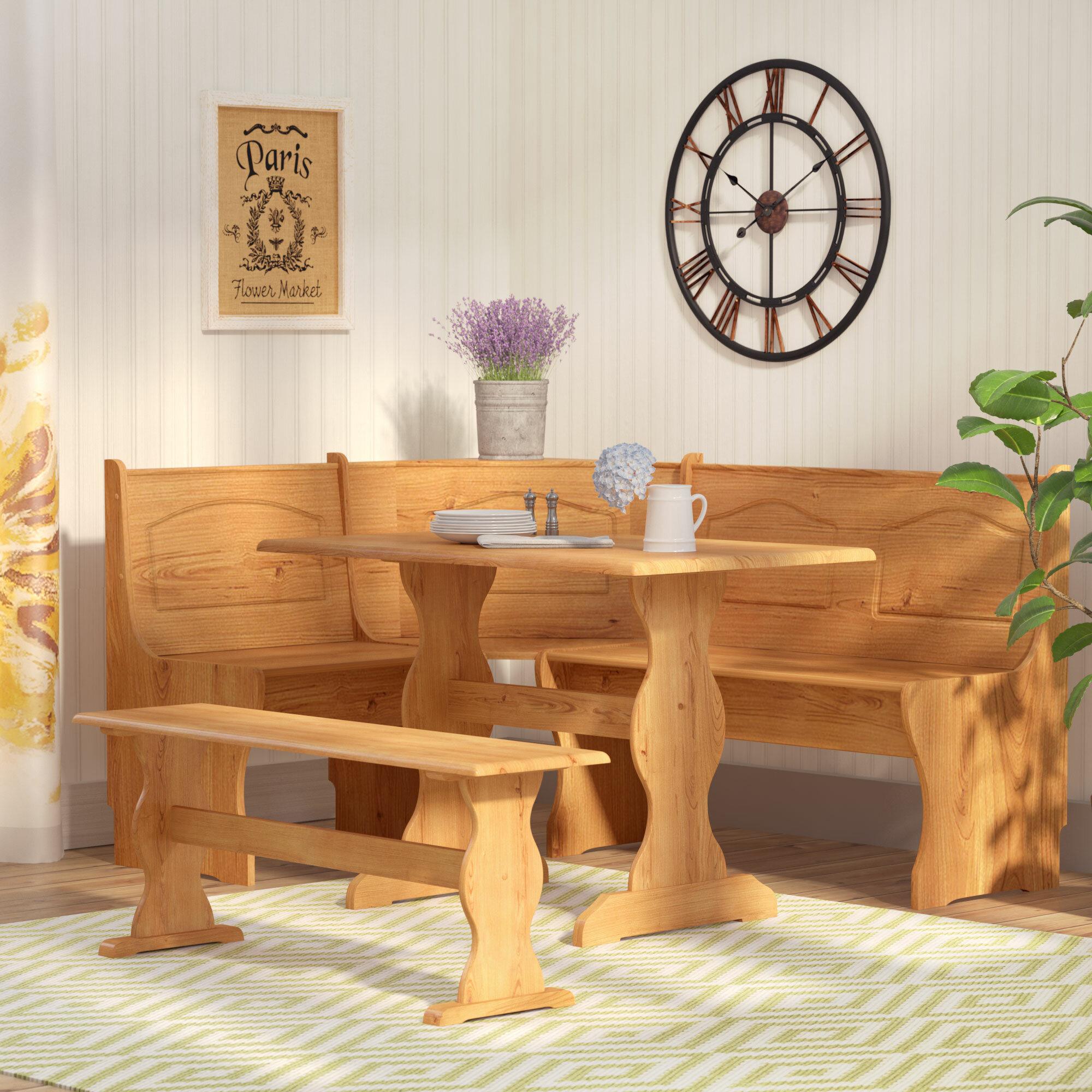 August Grove Patty 3 Piece Nook Dining Set Reviews Wayfair