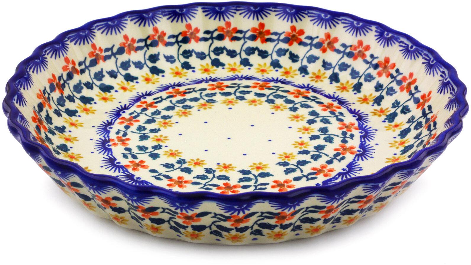 Polmedia Non Stick Polish Pottery Fluted Pie Dish Wayfair