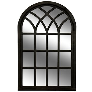 black windowpane mirror wayfair