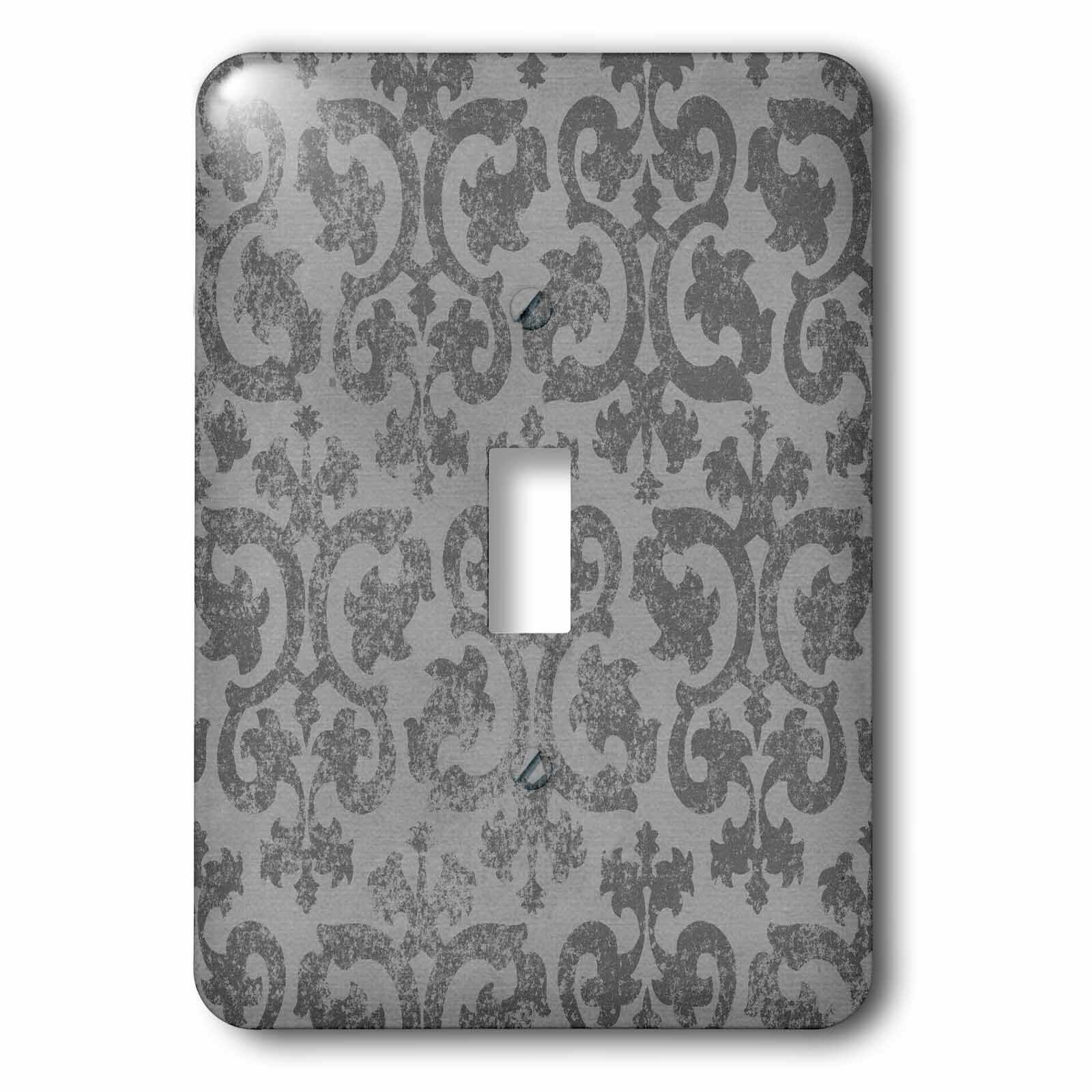 3drose Vintage Grunge Damask 1 Gang Toggle Light Switch Wall Plate Wayfair