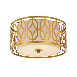 Sergent Traditional 2-Light Flush Mount by Willa Arlo Interiors