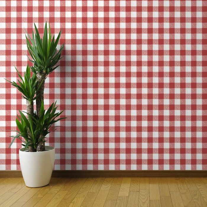 Lowrie Plaid Removable Peel And Stick Wallpaper Panel