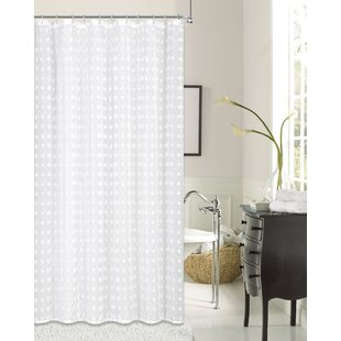 Marshallville Cut Flower Linen Look Fabric Single Shower Curtain