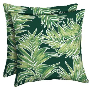 Kittleson Tropical Outdoor Throw Pillow (Set Of 2)
