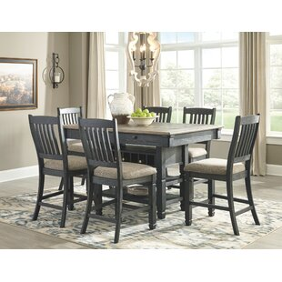 Ventanas 7 Piece Counter Height Solid Wood Dining Set by Canora Grey Sale