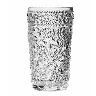 Eve Paisley 16 oz. Acrylic Drinking Glass (Set of 4)