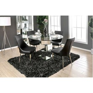 Suprident Contemporary 5 Piece Solid Wood Dining Set
