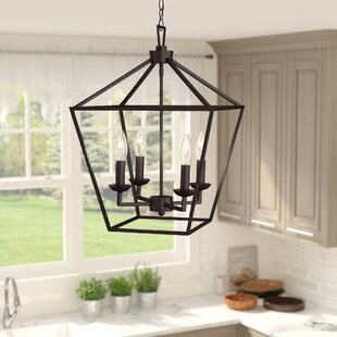 Laurel Foundry Modern Farmhouse Carmen 4-Light Lantern Pendant