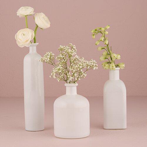 White Vase Set Home Ideas