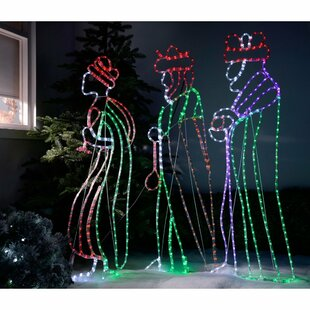 Pre-Lit 3 Wise Men Rope Lighted Display Image