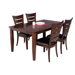 TTP Furnish Aden 5 Piece Dining Set