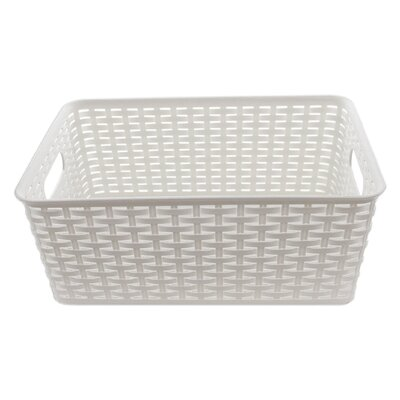 Plastic Rattan Storage Basket Organizer