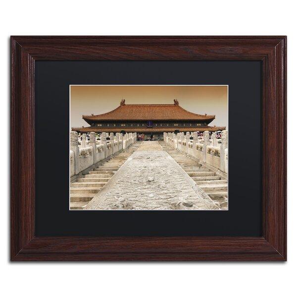 Trademark Art Temple Steps By Philippe Hugonnard Framed Photographic Print Wayfair