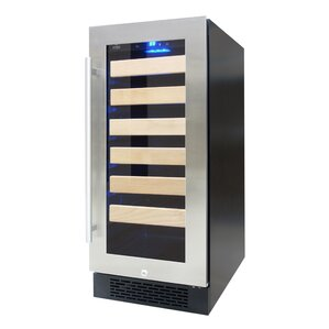27 Bottle Single Zone Freestanding Wine Cooler by Vinotemp